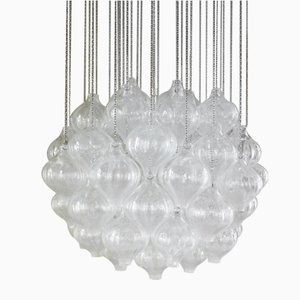 Large Austrian Tulip Chandelier by J. T. Kalmar for Kalmar, 1960s