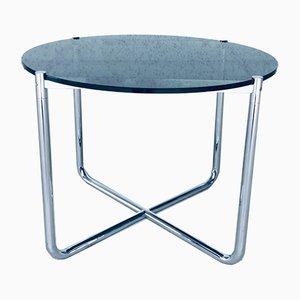 Tavolino da caffè in vetro e placcato in cromo di Ludwig Mies van der Rohe per Knoll International, anni '70