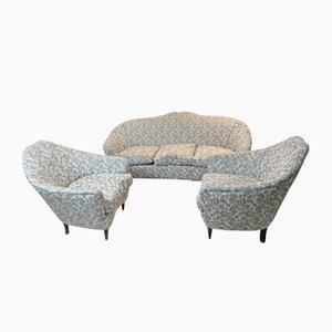 Living Room Set by Bruno Munari, 1950s, Set of 3
