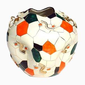 Vaso Spider in ceramica di Pucci Umbertide, Italia, anni '40