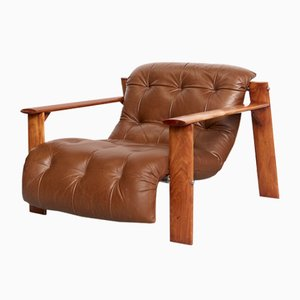 Brazilian Modern MP-129 Lounge Chair by Percival Lafer, 1970s