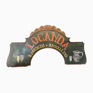 Mid-Century Ligurian Inn Sign