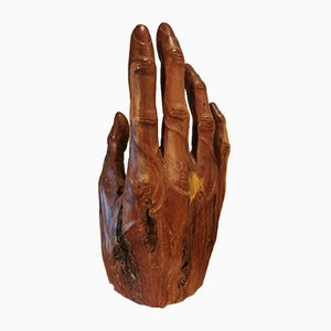 Mid-Century Carved Wooden Hand, 1960s