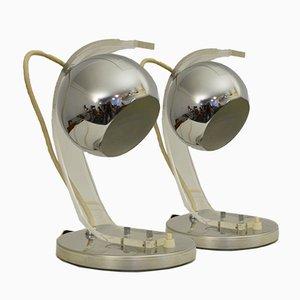 Lampes de Bureau Space Age de Meblo, 1970s, Set de 2