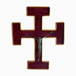 Bronze Christ Crucifix, 1950s