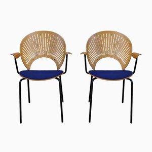 Danish Desk Chairs by Nanna Ditzel, 1950s, Set of 2