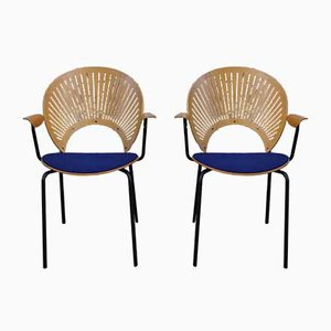 Sillas de escritorio danesas de Nanna Ditzel, años 50. Juego de 2