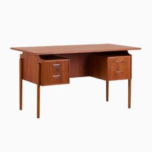 Mid-Century Danish Geometrical Teak Desk, 1960s