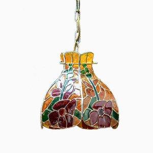 Glass Suspension Lamp, 1960s