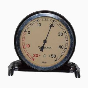 French Art Deco Round Thermometer for Thermorex, 1930s