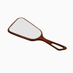 Espejo portátil con marco de cerezo