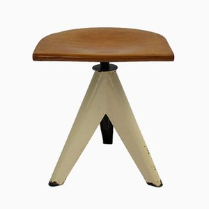 Industrial Three Legged Stool