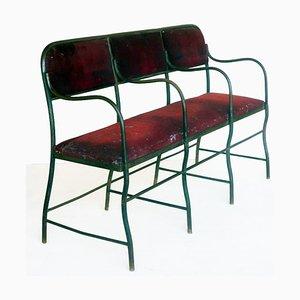 Antique Wrought Iron Theatre Sofa