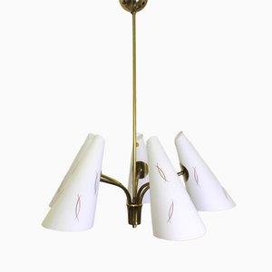 Luz de techo austriaca de vidrio de Rupert Nikoll