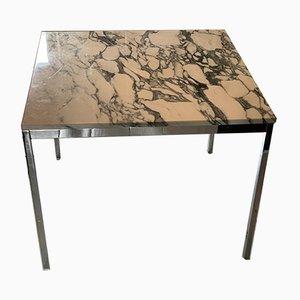 Tavolo da pranzo Mid-Century in marmo e placcato in cromo di Florence Knoll Bassett per Knoll Inc. / Knoll International