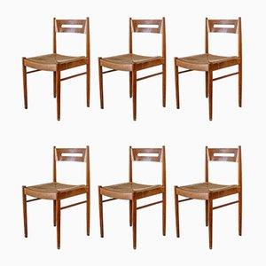 Skandinavische Stühle, 1950er, 6er Set