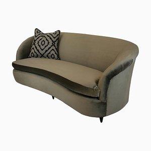Italian Wooden Sofa by Ico Luisa Parisi, 1950s
