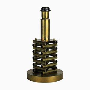 Mid-Century Brass Table Lamp by Gaetano Sciolari