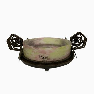 Antique Wrought Iron Fruit Bowl by André Delatte