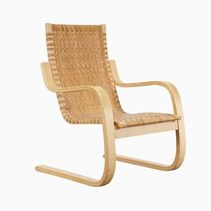 Freischwingender Armlehnstuhl von Alvar Aalto für Artek, circa 1970