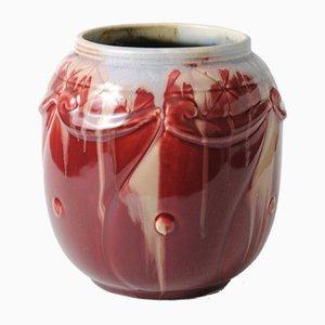 Antike Vase von Faiencerie Thulin