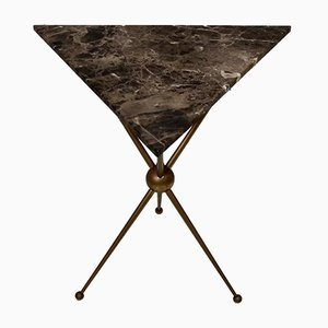 Triangular Marble Topped Side Table, 1950s