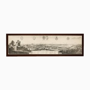 Vintage Print, View of the City of Prague by Wenzel Hollar, 1649