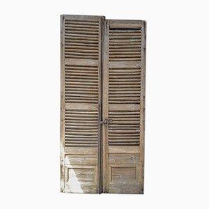 Französische Eichenholz Chateau Türen, 2er Set