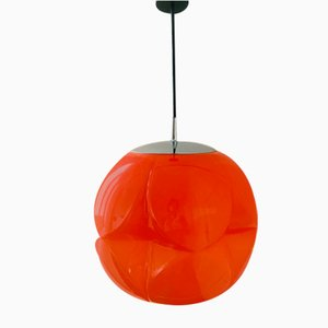 Mid-Century Glas Deckenlampe von Peill & Putzler, 1960er