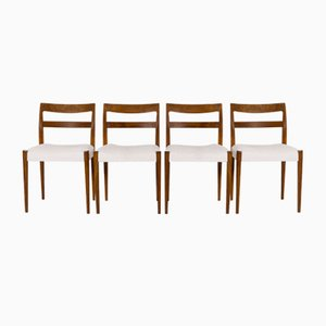 Mid-Century Swedish Dining Chairs by Nils Jonsson for Troeds, Bjärnum, Set of 4