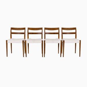Schwedische Mid-Century Esszimmerstühle von Nils Jonsson für Troeds, Bjärnum, 4er Set