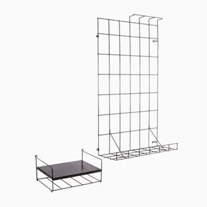 Mid-Century Wire Wall Units by Karl Fichtel for Drahtwerke Erlau, Set of 2