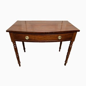Mahogany Bow Front Writing Table