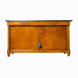 Antique Empire Sideboard with Marble Top