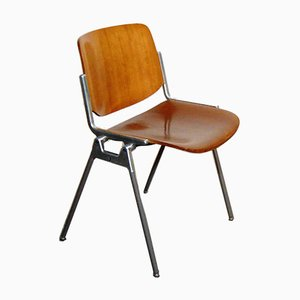 Vintage Schreibtischstuhl von Giancarlo Piretti für Castelli / Anonima Castelli