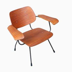 Teak Plywood 8000 Armchair by Tjerk Reijenga for Pilastro, 1950s