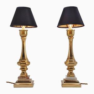 Vintage Tischlampen aus Bronze & Onyx, Frankreich, 2er Set