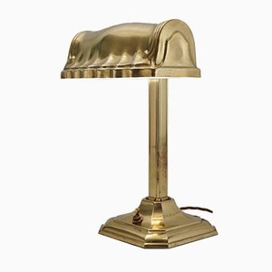 Vintage Adjustable Brass Desk Lamp, USA, 1930s