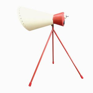 Red and White Model 1618 Table Lamp by Josef Hurka for Napako, 1950s