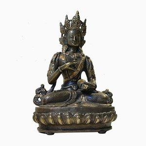 Antiker tibetischer Vajrasattva Buddha aus Bronze