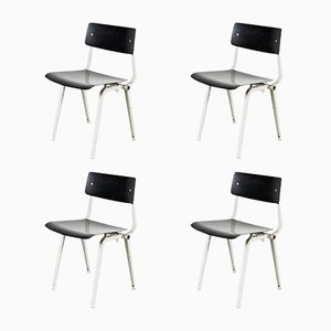 Mid-Century Theaterstühle von Friso Kramer für Ahrend de Cirkel, 4er Set