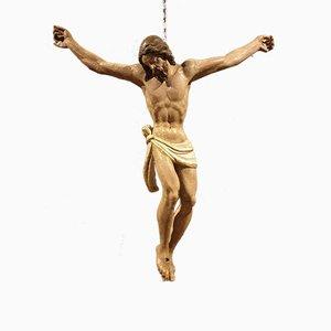 Polychrome Wooden Christ, 18th Century