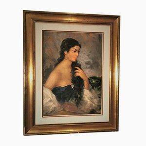 Italian Female, Oil on Canvas, 1950s