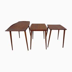 Tables Gigognes en Teck par Jens Quistgaard pour Nissen, 1960s, Set de 3
