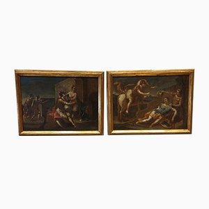 Rinaldo and Armida Oil on Canvas Paintings, 1500s, Set of 2