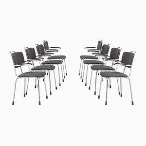 Desk Chairs by Willem Hendrik Gispen for Gebroeders van der Stroom, 1980s, Set of 8