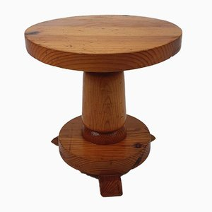 Modernist French Pine Stool, 1960s