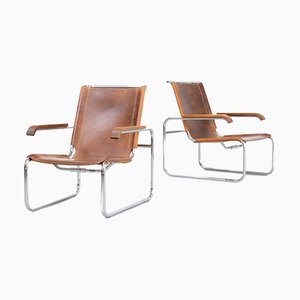 S35 Lounge Chairs by Marcel Breuer for Thonet, 1930s, Set of 2