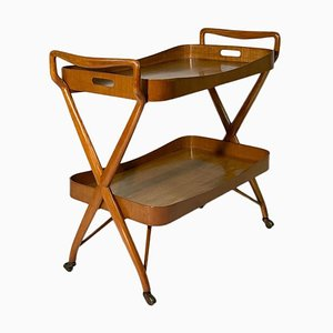 Mid-Century Italian Cart Trolley with Removable Tray and Shelf