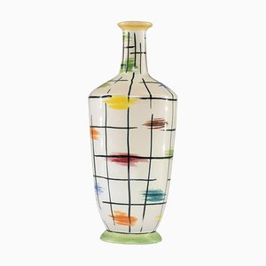 Italian Colorful Ceramic Vase by Pucci Umbertide, 1950s